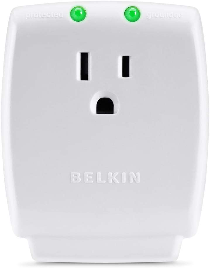 Belkin Single Outlet SurgeCube Surge Protector, 1080 Joules: Home Audio & Theater