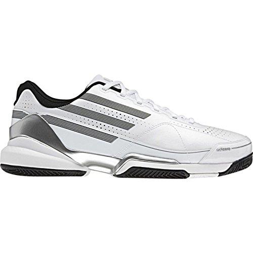 Schuhe Adidas Adizero Feather Clay weiß/schwarz/silber 2011 Weiß