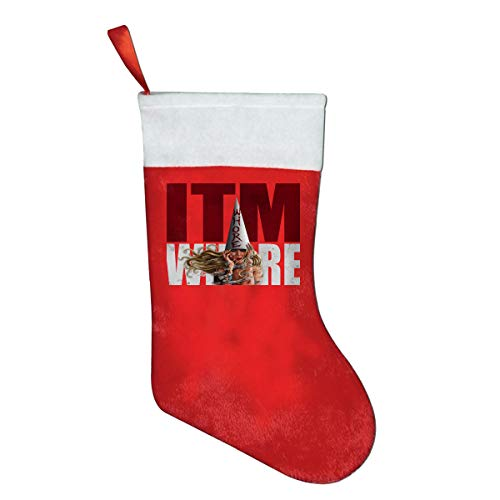Sexy in This Moment Maria Brink Whore Red Felt Classic Christmas Stockings Gifts Bags -