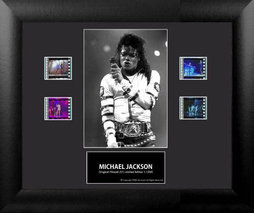 Michael Jackson (Series 1) Framed Double Film Cell Presentation by Michael Jackson