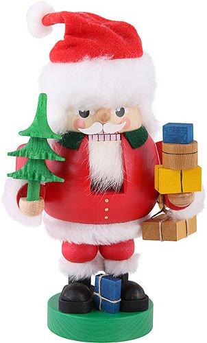 ISDD German nutcracker Santa Claus red, height 19 cm/8 inch, original Erzgebirge by Richard Glaesser Seiffen