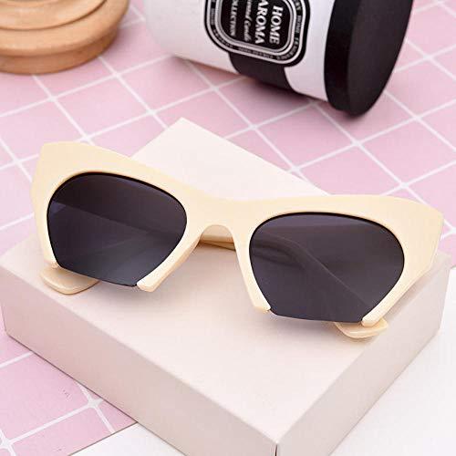 CYCY Sunglasses Female Tide Korean Version of The Sunglasses Round face Long face Wild Glasses Wholesale T532 White Box Gray Piece, T541 Milky Box Gray Piece ()