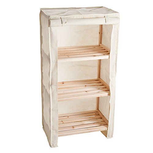Review Lavish Home 3-Tier Light Wood Shelf with Removable Cover By Lavish Home by Lavish Home