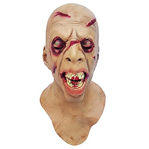 [Halloween Novelty Mask Molezu Costume Party Latex Zombie Horror Mask] (Scarry Halloween)