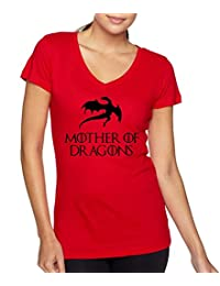 Allntrends Women's V Shirt Mother Of Dragons