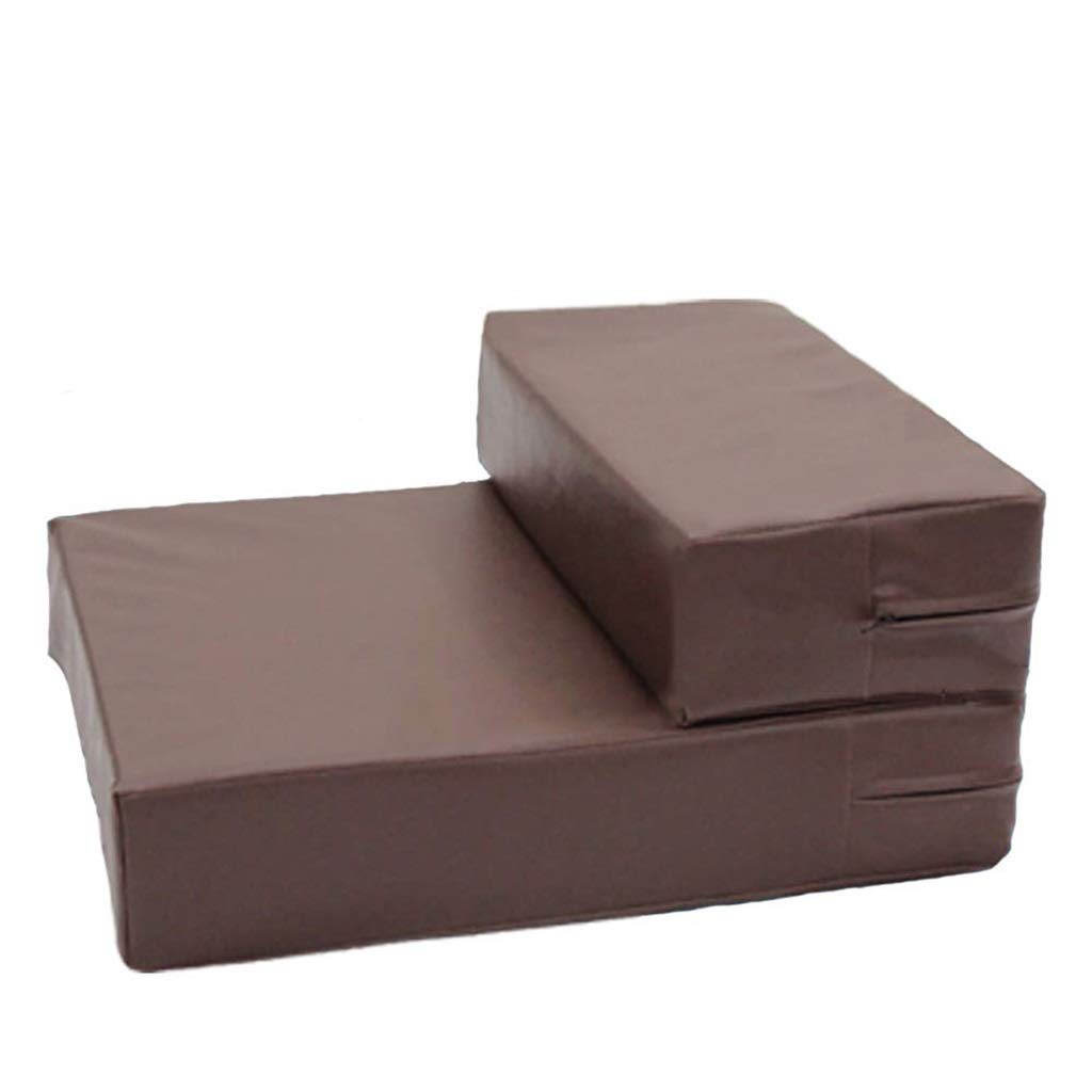 2 steps XUEYAN Pet Step Cushion Indoor Home Couch Bed Sofa Dog Stairs Smooth PU Leather Foldable (Size   2 steps)
