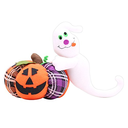 lightclub Cute Halloween Decoration Cloth Pumpkin Cat Ghost Plush Toy Party Ornament Gift Ghost]()