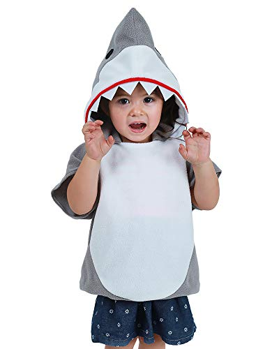 Coskidz Childrens' Shark Costume Halloween Multicolor Hoodie (S, Gray) -