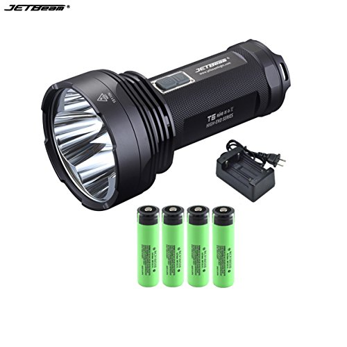 JETBeam T6 Cree XP-L LED 4350 lumens 18650 Flashlight With 3.7v 3400mAh Battery +battery by JETBeam