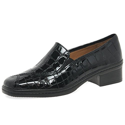Black Women's Patent Loafers Croc Gabor Frith q1wtAA