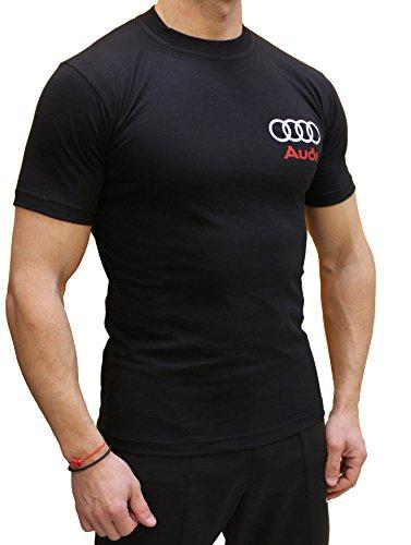 8 Logotipo Audi Logo line Algodón Negro Polo Deporte Rs Quattro moto S S8 Oto S Camiseta De La qFfAxwIC
