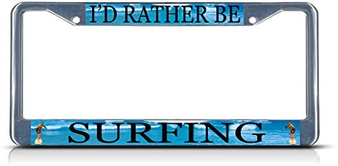 ID RATHER BE IN FLORIDA License Plate Frame Tag Holder Car Accessories Gift