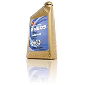 Eneos (3241300) API SN/ILSAC GF-5 Certified 5W-20 Fully Synthetic Motor Oil - 1 Quart Bottle