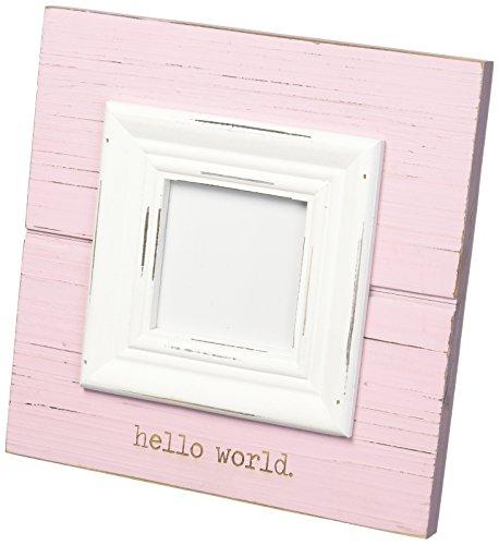 Mud Pie Baby Photo Frame, Hello World/Pink