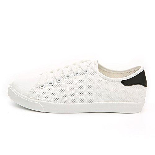 Zapatos de las mujeres coreanas/Corte bajo moda casual zapatos de encaje/Fondo plano zapatos/Corte con malla transpirable zapatos A