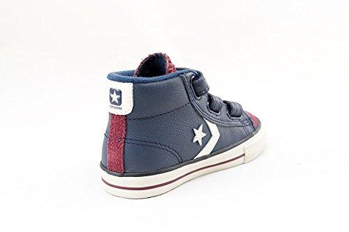 750634c Star Blues Blu Strap Converse Sneakers Ev Dress Player Pelle Bambino PRw6v6qSxf