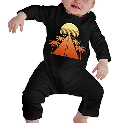 UGFGF-S3 Retro Drive Baby Girl Long Sleeve Bodysuit Organic Coverall