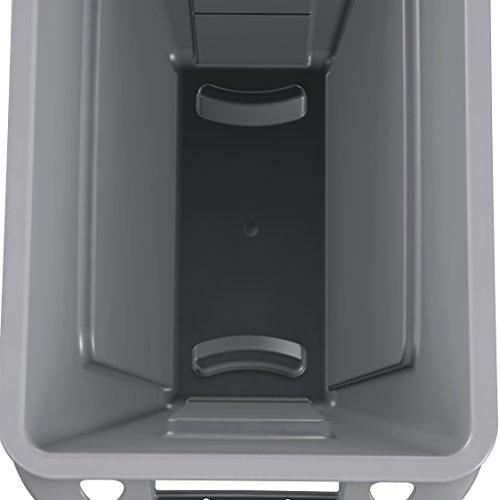 rubbermaid commercial vented slim jim trash can waste receptacle 16 gallon new ebay. Black Bedroom Furniture Sets. Home Design Ideas