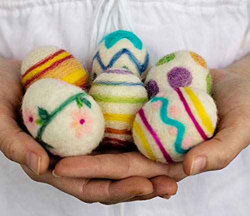 Easter Eggs Needle Felting Kit Wool Decorations DIY Needle Felting