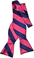 Mara By Countess Mara Mens Navy Rugby neck bow Tie Red