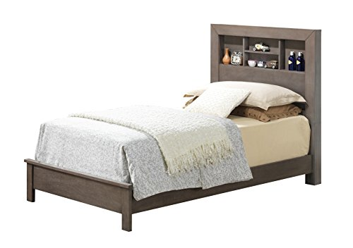 Glory Furniture G2405B-TB2 Sleigh Bed, Twin, Gray, 3 boxes