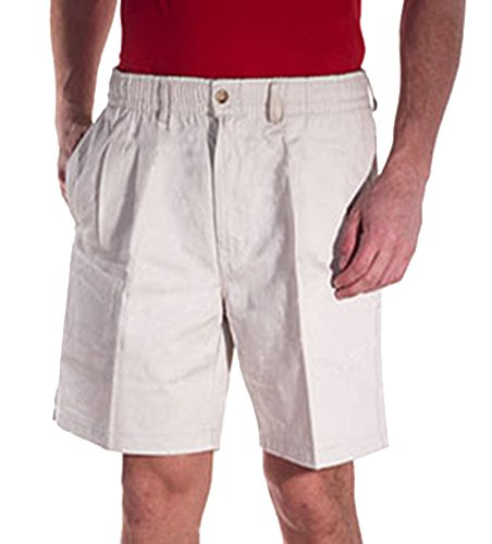 Creekwood Elastic Waist Twill Shorts for Big & Tall Men - 42 - White ()