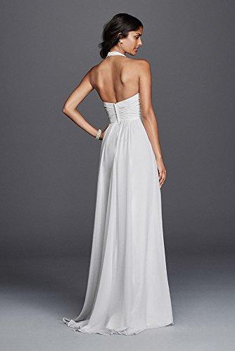 Chiffon Sheath Halter Wedding Dress Style