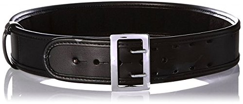 Sam Browne Belt Chrome Buckle (Bianchi 7960 PLN Black Sam Browne Belt with Chrome Buckle (Size 48))