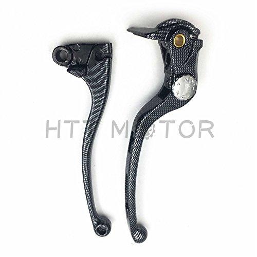 New CARBON FIBER Brake Clutch Lever Fit For Kawasaki Ninja 636 Zx Zx6R Zx6Rr 2005 ()