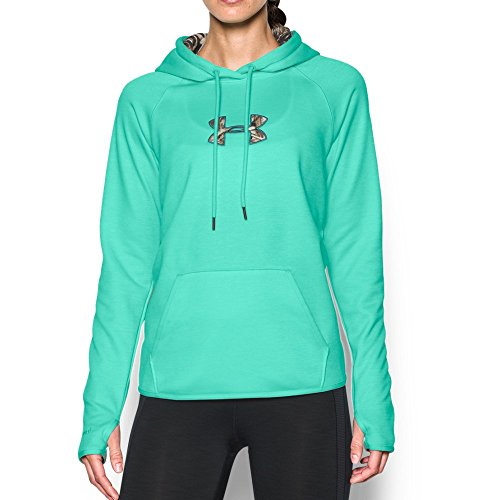Under Armour Women's Icon Caliber Hoodie, Crystal/Realtree Max 5, X-Small
