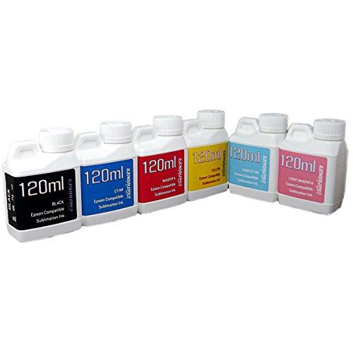 Dye Sublimation Ink 6 color 120ml bottles- EPSON Artisan 1430 printer