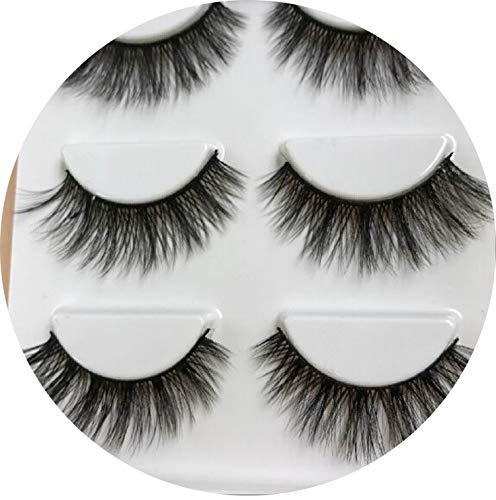 3 Pairs Natural False Eyelashes Fake Lashes Long Makeup 3D Mink Lashes Eyelash Extension Mink Eyelashes For Beauty,Sd60 -