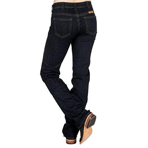 Cowgirl Tuff Co Womens Just Tuff Dark Riding Jeans 27 R Blue ()
