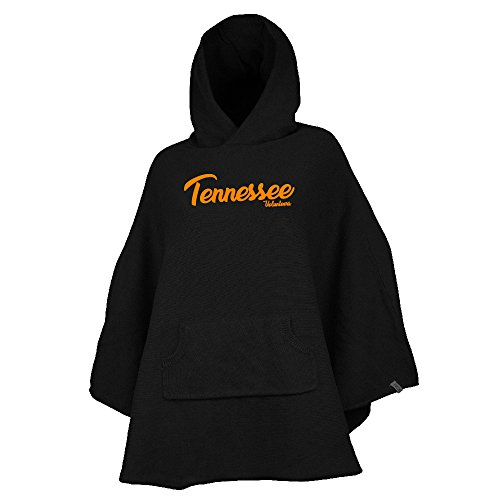 NCAA Tennessee Volunteers Womens Kanga Ponchokanga Poncho, Black, One Size -
