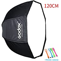 Godox 47/120cm Umbrella Octagon Softbox Reflector with Carrying Bag for Portrait or Product Photography +SUPON USB LED (120cm)