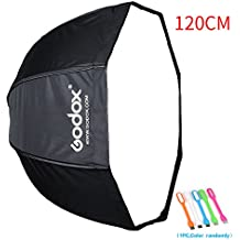 "Godox 47""/120cm Umbrella Octagon Softbox Reflector with Carrying Bag for Portrait or Product Photography +SUPON USB LED (120cm)"