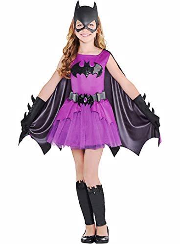 HalloCostume Girls Purple Batgirl Costume - Batman, Halloween Costumes for Girls -