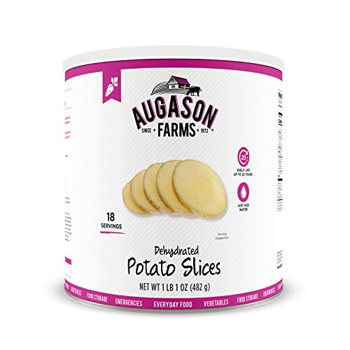 Farm Garlic - Augason Farms Dehydrated Potato Slices 1 lb 4 oz No. 10 Can