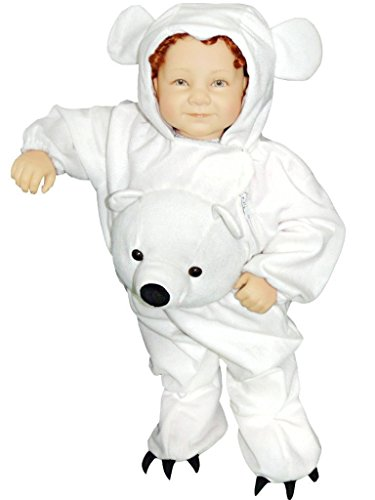 Bear Jumpsuit Costumes (Fantasy World Polar Bear Halloween Costume f. Toddlers/Boys/Girls, Size: 3t, J45)