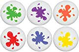 Paint Splat Drawer Pull Knobs, Ceramic Paintball Splatter Cabinet Dresser Pulls/Children's Nursery Decor
