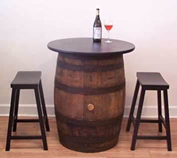 White Oak Whiskey Barrel Table Pub Bistro Bar C/(2)