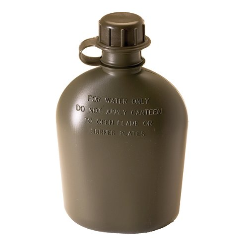 Texsport One Quart Poly Canteen, Olive Drab (Scout Canteen)