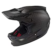 Troy Lee Designs Adult Full Face | BMX | Downhill | D3 Carbon Midnight Mountain Biking Helmet with MIPS (Large, Black)