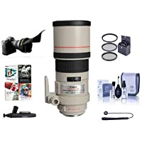 Canon EF 300mm f/4L IS USM Image Stabilizer AF Telephoto Lens Kit, USA with 77mm Photo Essentials Filter Kit, Lens Cap Leash, Lens Cleaning Kit, Flex Lens Shade, Special Pro Software Package