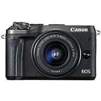 Canon Fotocamera Digitale Mirrorless EOS M6, Kit con Obiettivo EF-M 15-45mm, f/3.5-6.3 IS STM e SDHC 8GB Nero