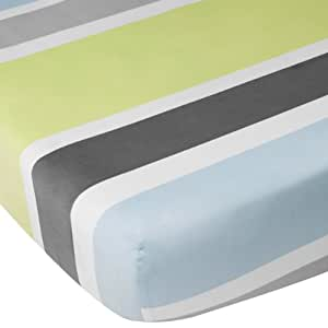 CoCaLo Mix & Match Stripe Fitted Sheet, Julian (Discontinued by Manufacturer)