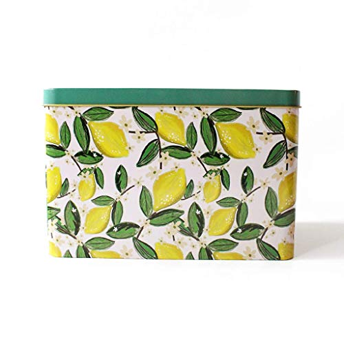 Lily & Val Recipe Box Tin with Cards and Dividers Decorative Lemons