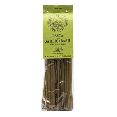 Morelli - Aglio e Basilico - Garlic and Basil Linguine, Imported from Italy, 8.8oz (250g)