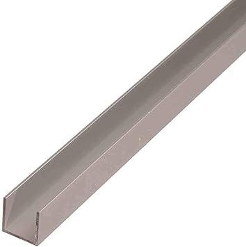 1500mm Aluminium U-Profil 15x100x15mm Kantenprofil aus 1 mm Aluminium silber natur eloxiert Abdeckprofi