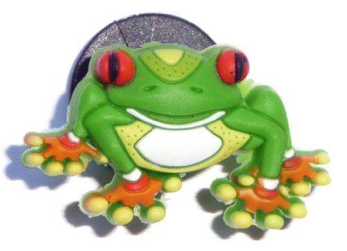 Tree Frog ribbit JIBBITZ Crocs Hole Bracelet Shoe Charm ~ jungle animal tree forest frog prince